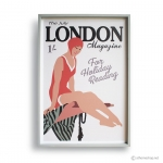 Reproduction Vintage Poster - LONDON JULY