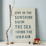 แผ่นไม้ฉลุคำ Wall Decor Quote รุ่น Live in the Sunshine
