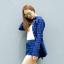 เสื้อลายสก๊อตผู้หญิงสีน้ำเงิน thumbnail 1