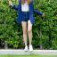 เสื้อลายสก๊อตผู้หญิงสีน้ำเงิน thumbnail 5