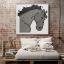 ภาพแต่งผนัง รูปม้าสีเทา Wall Decor Grey Horse thumbnail 1