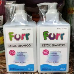 Furr detox shampoo 280ml สองขวด 520รวมส่ง