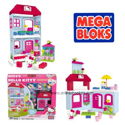 ตัวต่อเมก้าบล็อก Mega Bloks Hello Kitty Flower Shop (10824)