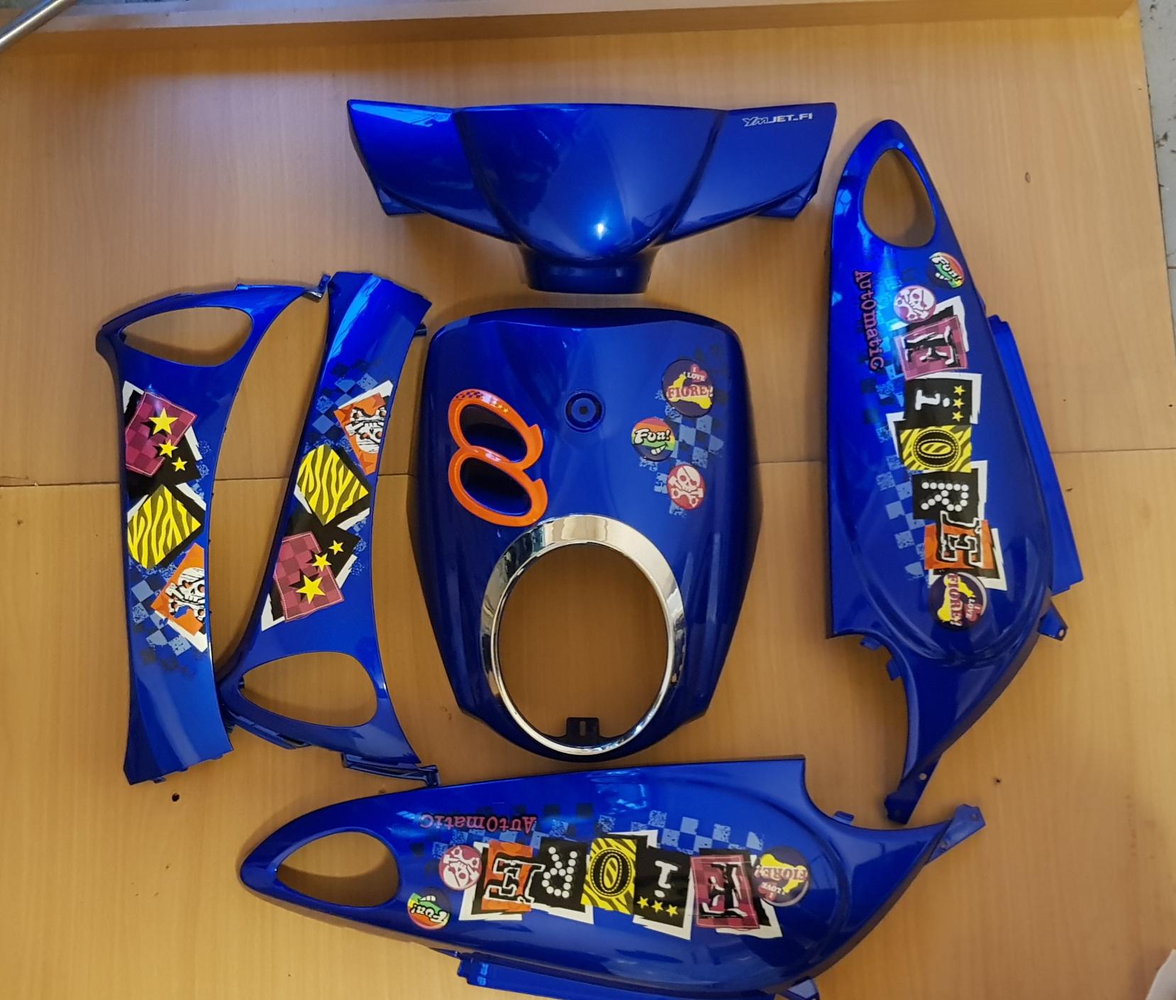 ชุดสีฟีโอเร ของใหม่ สีน้ำเงินพร้อมสติ๊กเกอร์