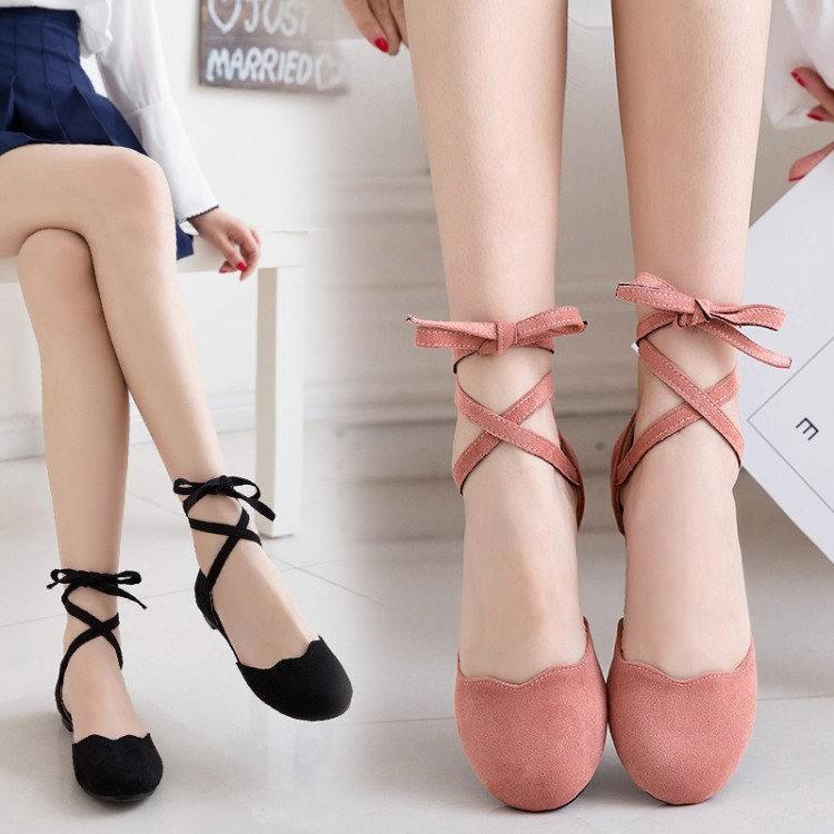 Preorder รองเท้าส้นเตี้ย 30-43 รหัส 9DA-5315