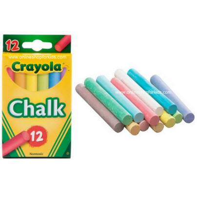 สีชอล์ก ขนาดมาตราฐาน Crayola Chalk Classic Colors 12 ct.