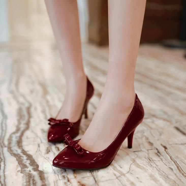 พร้อมส่ง รองเท้าแฟชั่น สีแดง ไซส์ 38 รหัส PP-55-3205