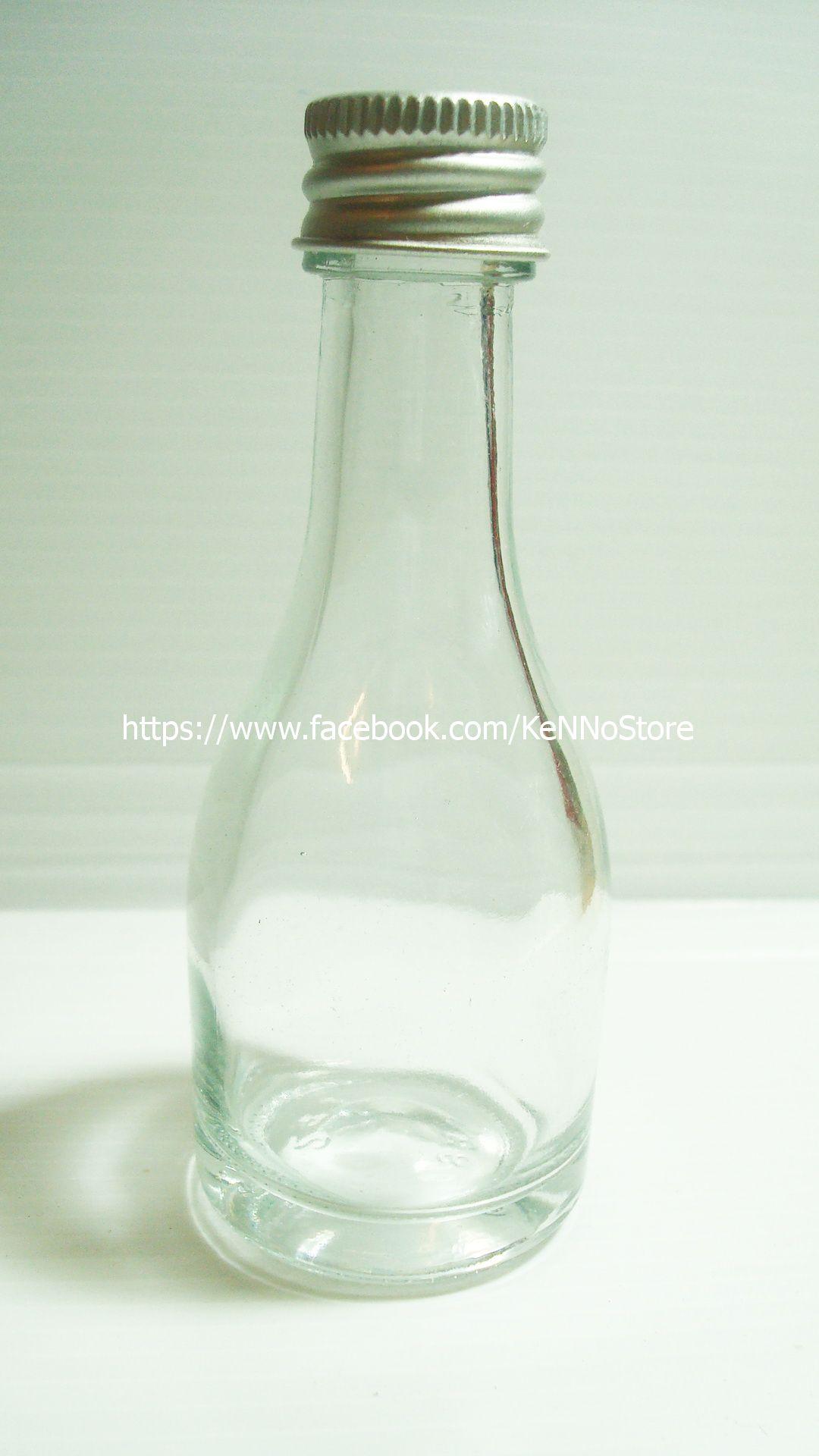 [BWB103] ขวดแก้วใสฝาเกลียวจุกใน 30cc ขวดเหล้า