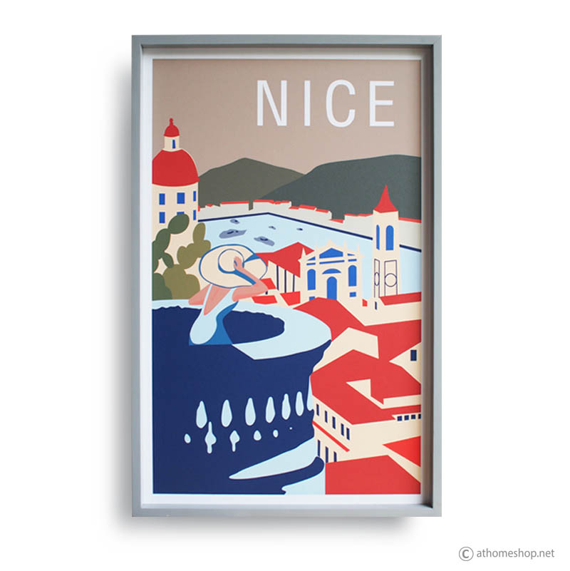 Reproduction Vintage Poster - NICE