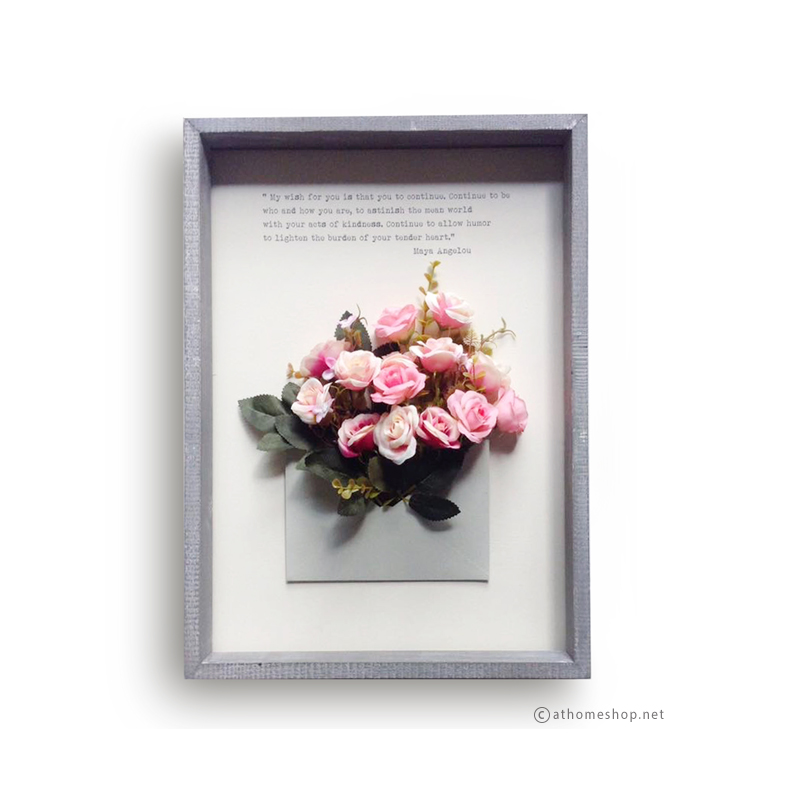 GIFT BOX ชุด LOVE LETTER กุหลาบชมพู