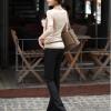 รหัส B51 เสื้อสตรีแขนยาวผ้าpolyester/cotton สวมใส่สวยสบาย ตัดเย็บเรียบร้อย