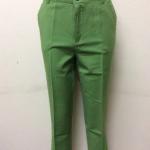 กางเกงเกาหลี ขา 5 ส่วน สีเขียว