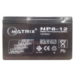 Battery 8Ah 12V 'Matrix'
