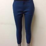 กางเกงผ้าดับเบิ้ล สีฟ้า(น้ำทะเล)