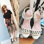 Preorder รองเท้าแฟชั่น สไตล์เกาหลี 34-39 รหัส 9DA-6115