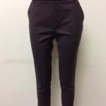 กางเกงขา 5 ส่วน ผ้าดับเบิ้ล สีน้ำตาลเข้ม