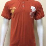 เสื้อโปโลผู้ชายผ้ามัน F&L สีส้ม(อิฐ)