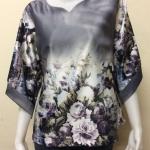 เสื้อคอแฟชั่นผ้าเมสัน By PISTA สีเทา Size 44