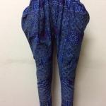 กางเกงผ้าพื้นเมืองภาคเหนือ เอวยางยืด สีน้ำเงิน