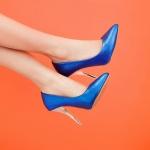 พร้อมส่ง รองเท้าแฟชั่น สีน้ำเงิน ไซส์ 36 รหัส PP-HZ-3821