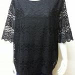 เสื้อผ้าลูกไม้ด้านหน้า สีดำ By Bai Mai Daeng Size 50