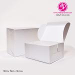 กล่องชิ้นเดียวฝาเปิดด้านบน สีเงิน ขนาด 11 x 15 x 7 ซม. (บรรจุ 50 กล่องต่อแพ็ค)