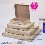 B-04-001 : กล่องพิซซ่า : 7.5 x 7.5 x 1.5 นิ้ว (บรรจุ 100 กล่องต่อแพ็ค)