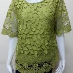 เสื้อผ้าลูกไม้ สีเขียวอ่อน