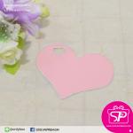 ป้ายTAG ลายเรียบทรงหัวใจ สีชมพู ขนาด 5.5x4.5 ซม. (บรรจุแพ็คละ 50 ชิ้น)