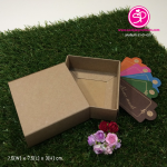 กล่องสบู่ แบบซองสวม ขนาด 7.5 x 7.5 x 3.0 ซม สีคราฟธรรมชาติ (บรรจุแพ็คละ 50 กล่อง)
