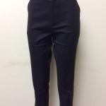 กางเกงขา 5 ส่วน ผ้าดับเบิ้ล สีดำ(แถบน้ำตาลเข้ม)