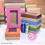 กล่องฝาครอบ ฝาสีต่างๆ ขนาด 16.0 x 25.3 x 8.0 ซม. มีหน้าต่าง