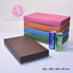 กล่องฝาครอบ ฝาสีต่างๆ ขนาด 20.0 x 33.0 x 5.0 ซม. ไม่มีหน้าต่าง