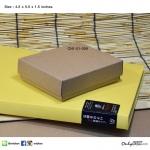 CN1-01-009 : กล่องฝาครอบ ขนาด 4.5 x 5.5 x 1.5 นิ้ว ไม่มีหน้าต่าง