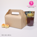 A-02-006 : กล่องหูหิ้ว ขนาด 9.0 x 16.0 x 8.0 ซม (ปริมาตรบรรจุ)