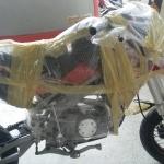(( ขายแล้ว )) GPX DP 125 สีแดงขาว คันนี้ส่งไป จ.กาญจนบุรีครับ