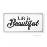 วอลล์อาร์ตตัวอักษร 3 มิติ LIFE IS BEAUTIFUL ตัวหนังสือสีดำ