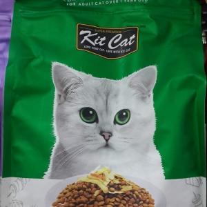 Kit cat Fillet 'o' flakes สูตรเสริมสร้างระบบการย่อย เพิ่มปลาแผ่นอบแห้ง 1.2kg. 250รวมส่ง