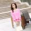 รหัส B131 เสื้อชีฟองสีชมพู ดีไซน์สวย ปักฉลุหน้าหลัง thumbnail 2