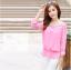 รหัส B131 เสื้อชีฟองสีชมพู ดีไซน์สวย ปักฉลุหน้าหลัง thumbnail 5