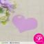 ป้ายTAG ลายเรียบทรงหัวใจ สีม่วง ขนาด 5.5x4.5 ซม. (บรรจุแพ็คละ 50 ชิ้น) thumbnail 1