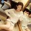 รหัส A221 เสื้อผ้าลูกไม้สีขาวเนื้อดี ซับในในตัว รอบอกประดับด้วยคริสตัลสวยเก๋ thumbnail 4