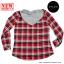 เสื้อคลุมลายสก๊อตผู้หญิงสีแดง มีฮู้ด thumbnail 2