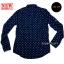 เสื้อเชิ้ตผู้ชายสีน้ำเงิน ลายบอลลูน thumbnail 7