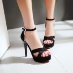พร้อมส่ง รองเท้าส้นสูง สีดำ ไซส์ 40 รหัส PP-N5-2072