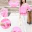 รหัส B131 เสื้อชีฟองสีชมพู ดีไซน์สวย ปักฉลุหน้าหลัง thumbnail 4