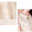 รหัส B61 ชุดเดรสสั้นผ้าชีฟองและผ้าใยแก้วทอประดับด้วยลวดลายดอกไม้สวยงาม thumbnail 5