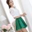 รหัส MN25 เสื้อสตรีสีขาวเนื้อดี ช่วงตัวและแขนเป็นผ้าลูกไม้สวยหวาน thumbnail 6