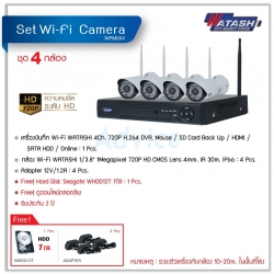 Set. 4CH Smart IP Camera WATASHI#WPM004