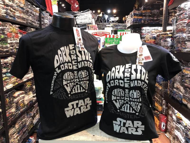 สตาร์วอร์ สีดำ (Darth Vader words face CODE:1260)